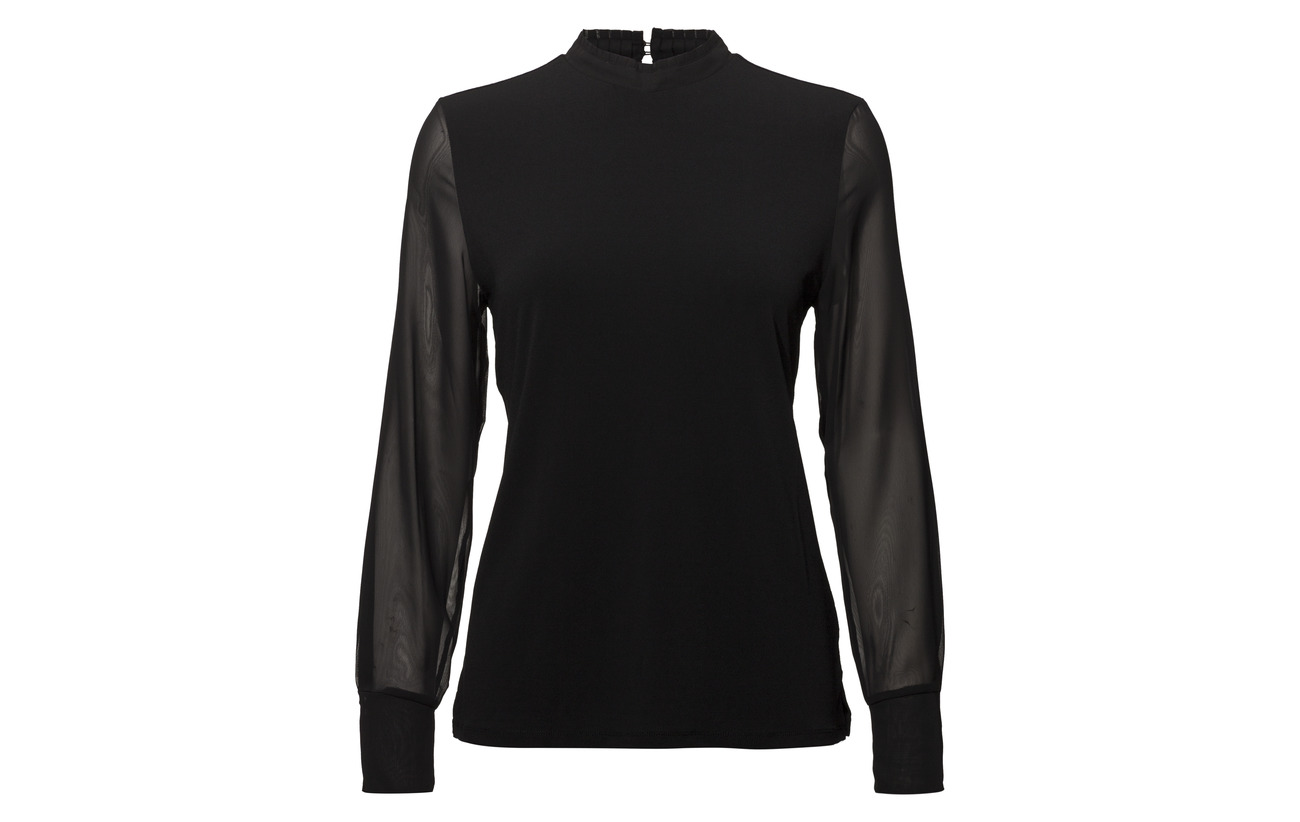 Esprit T Polyester Collection 95 5 Elastane Black shirts q8nXqBwxr5