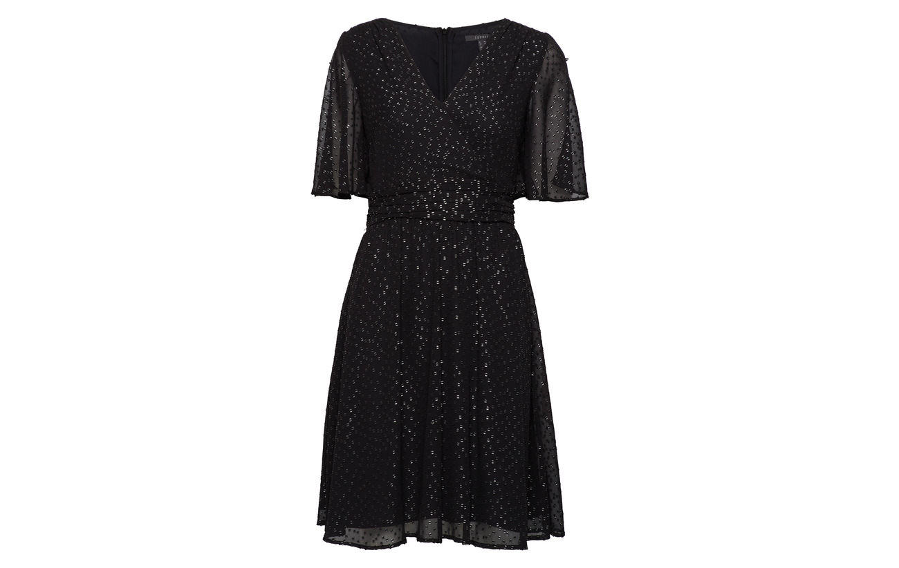 100 Collection Woven Polyester Esprit Black Dresses Light wOCSxWTq