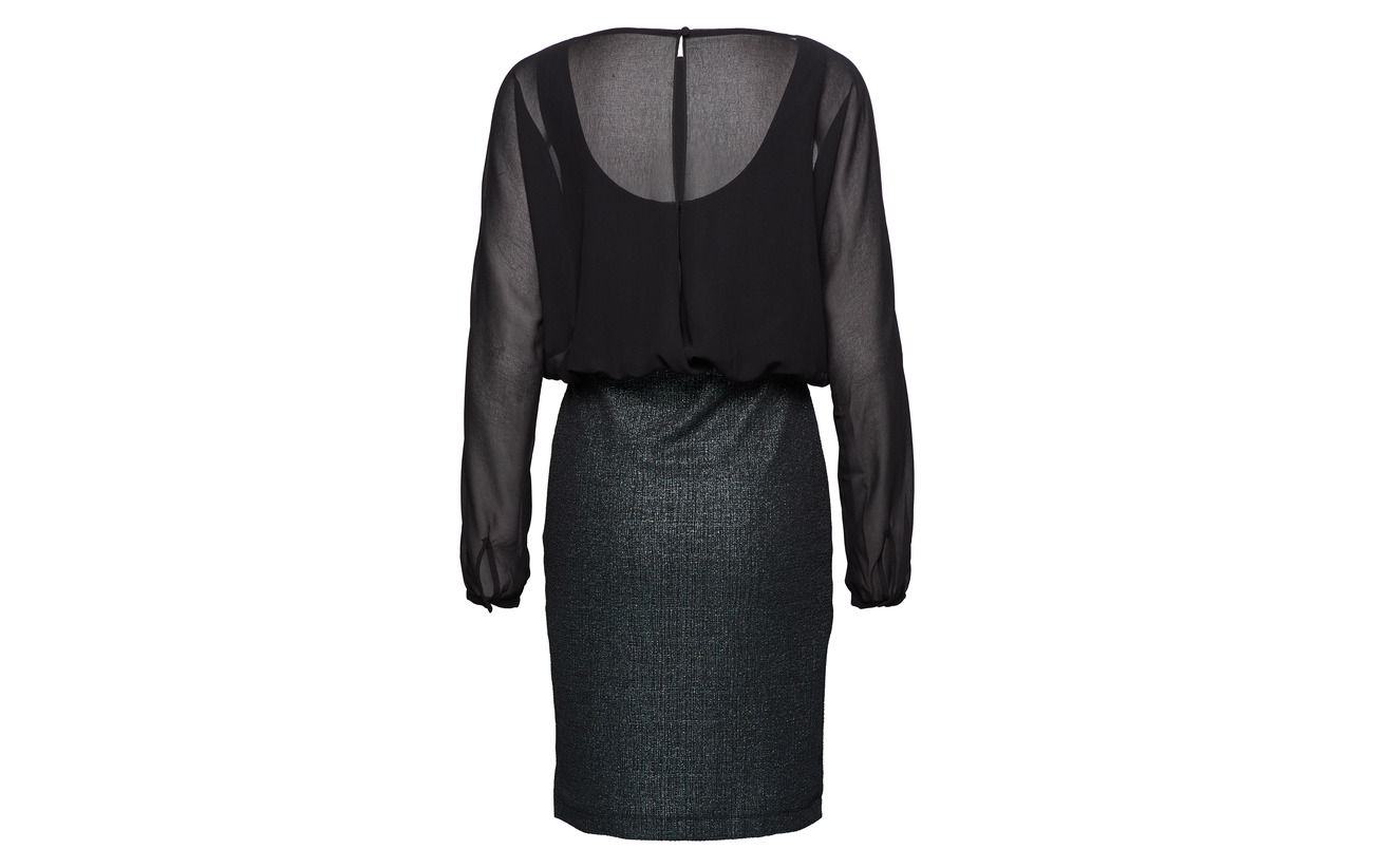 Polyester 100 Knitted Collection Dresses Esprit Black qSX6CUxWw