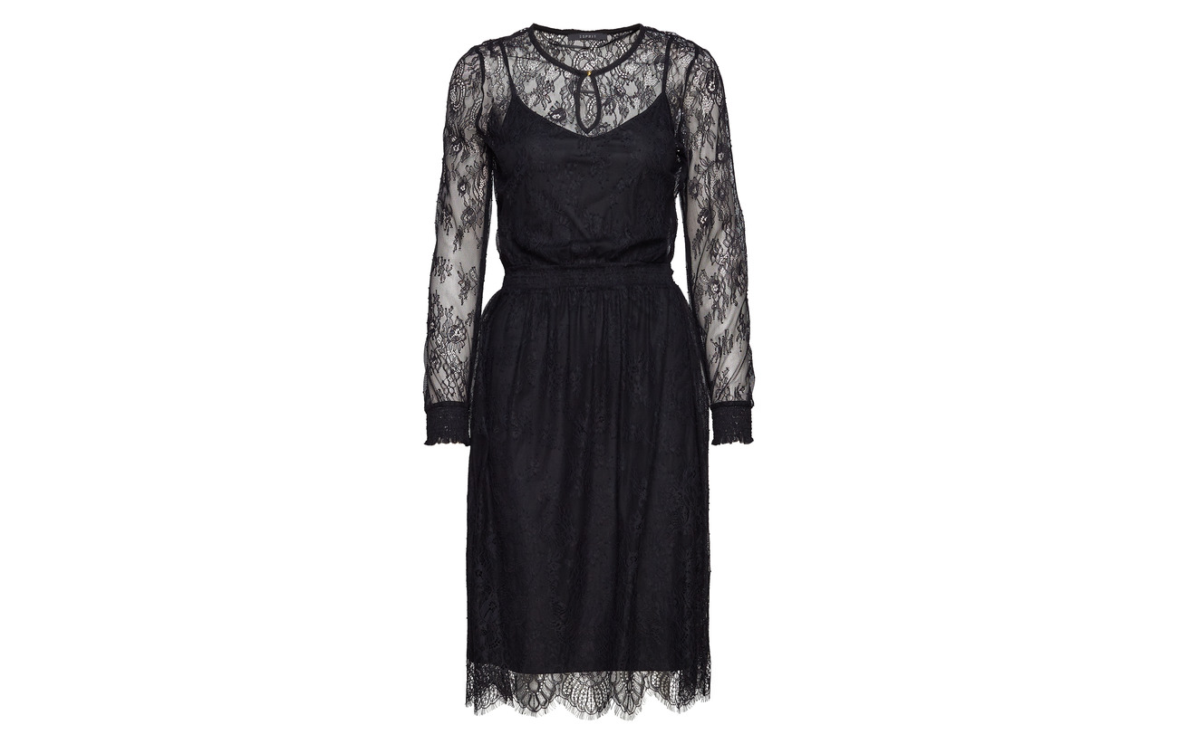 Dresses Polyester Esprit Light Black Collection Woven 100 HZW8nwqzB5