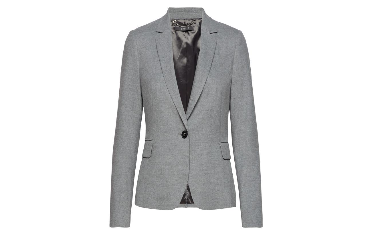 64 Woven 5 Grey 2 Polyester Esprit Viscose 34 Collection Elastane Blazers 6fTwXZ