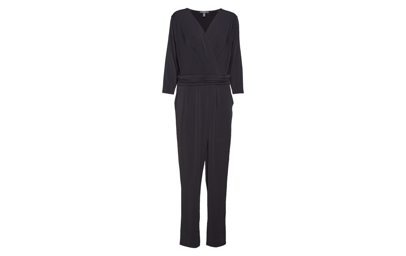 Elastane Overalls Black Polyester Knitted Esprit Collection 96 4 vCwO0nTqx