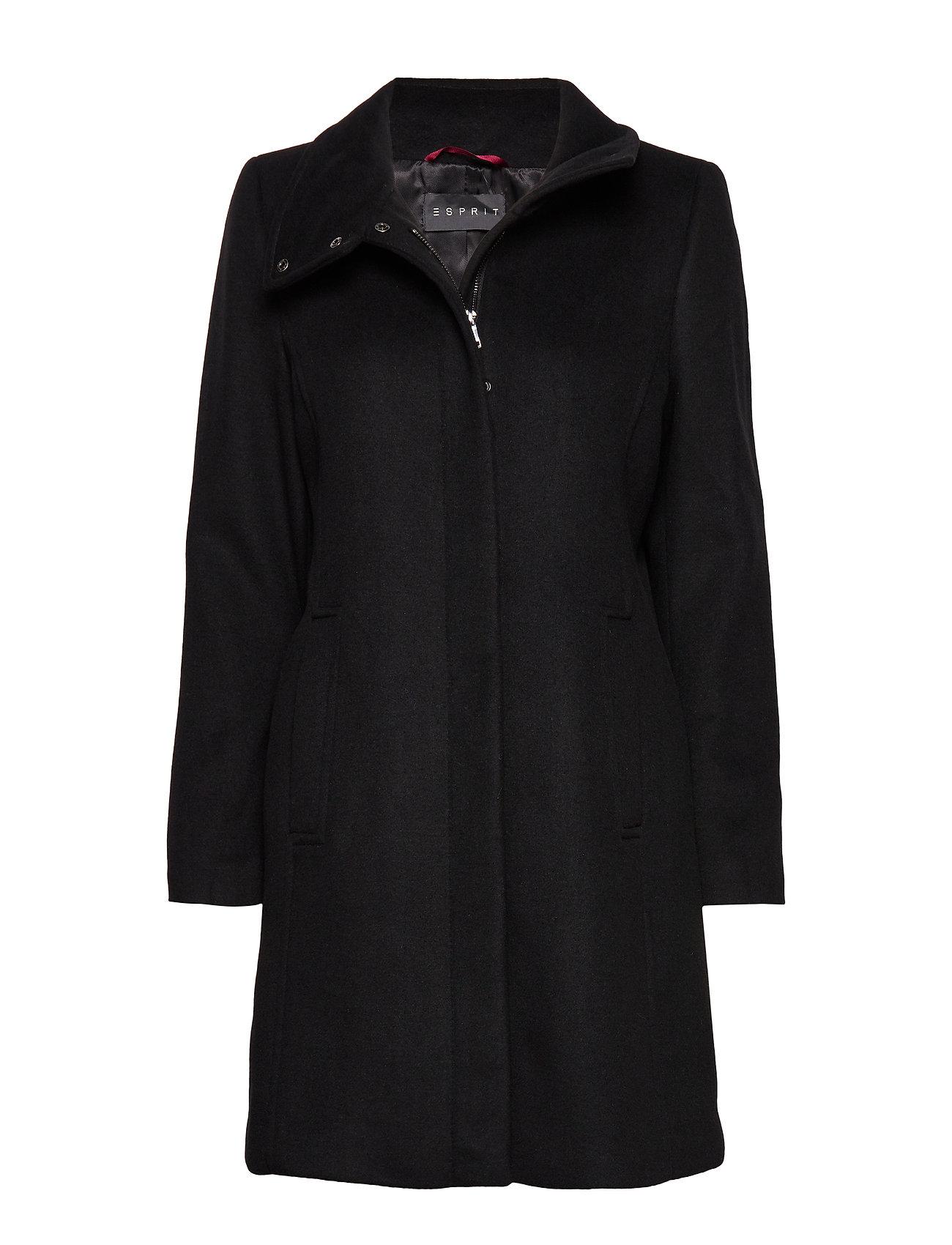 Esprit Collection Coats woven - BLACK