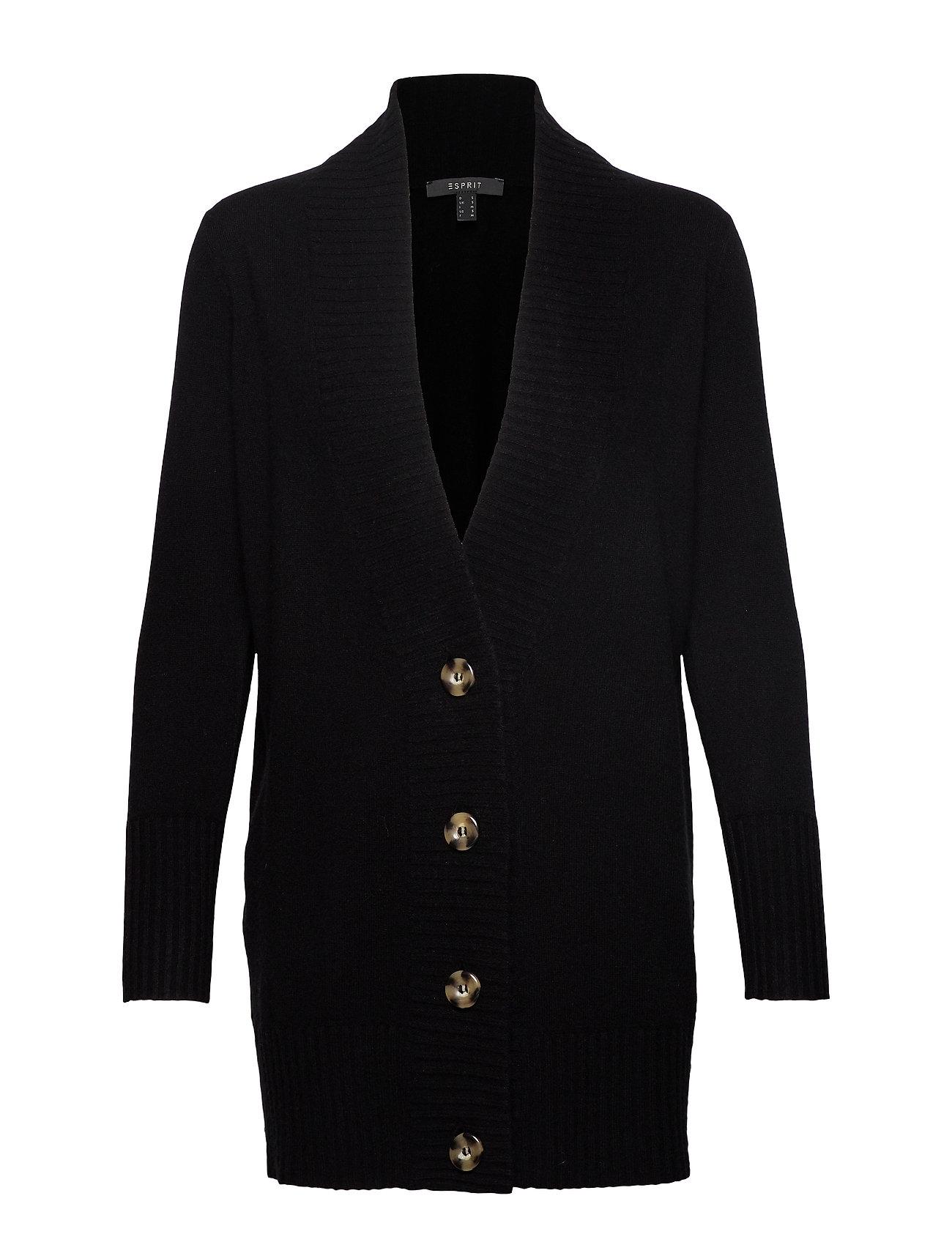 ESPRIT Sweaters Cardigan Cardigan Strickpullover Schwarz ESPRIT COLLECTION
