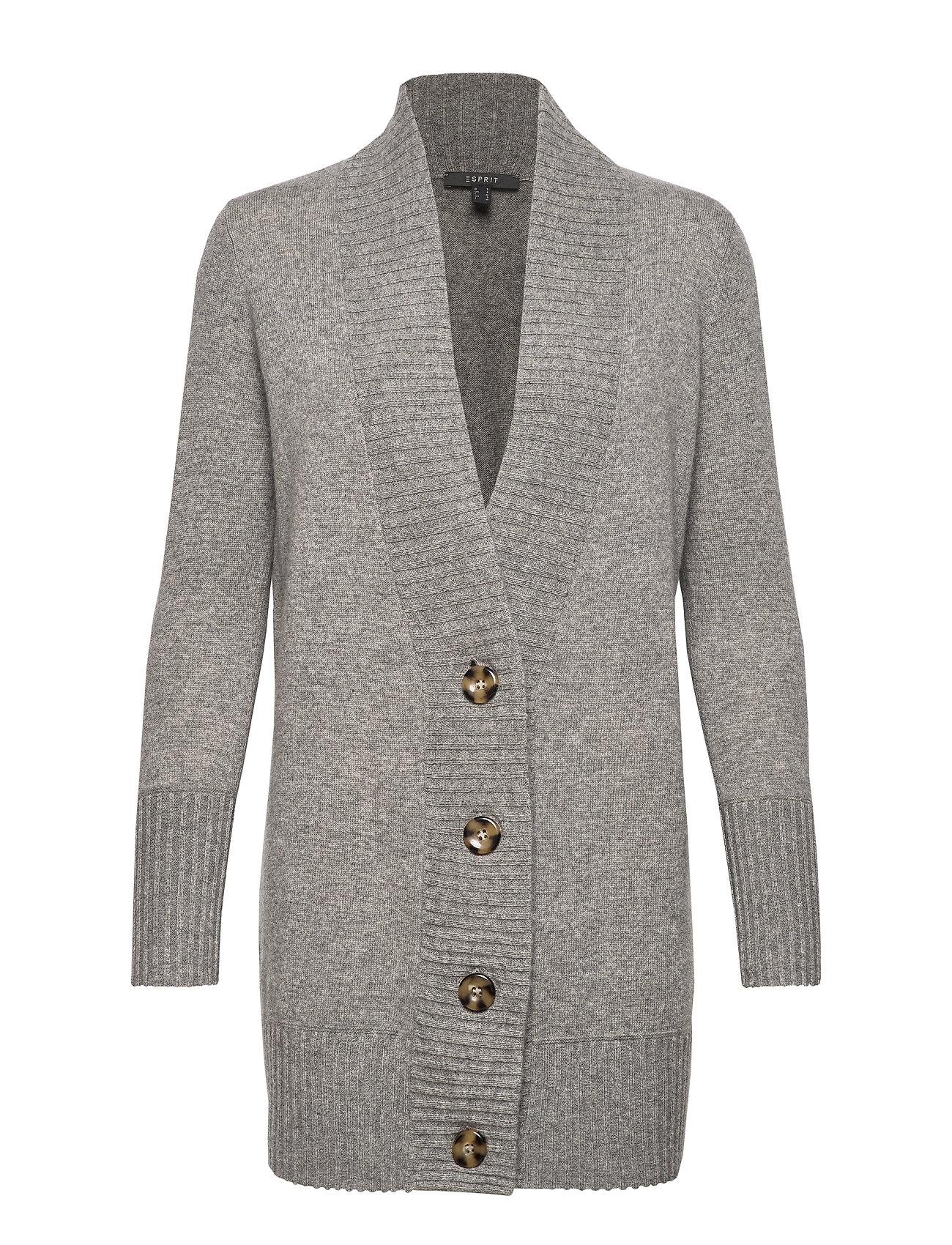 ESPRIT Sweaters Cardigan Cardigan Strickpullover Grau ESPRIT COLLECTION