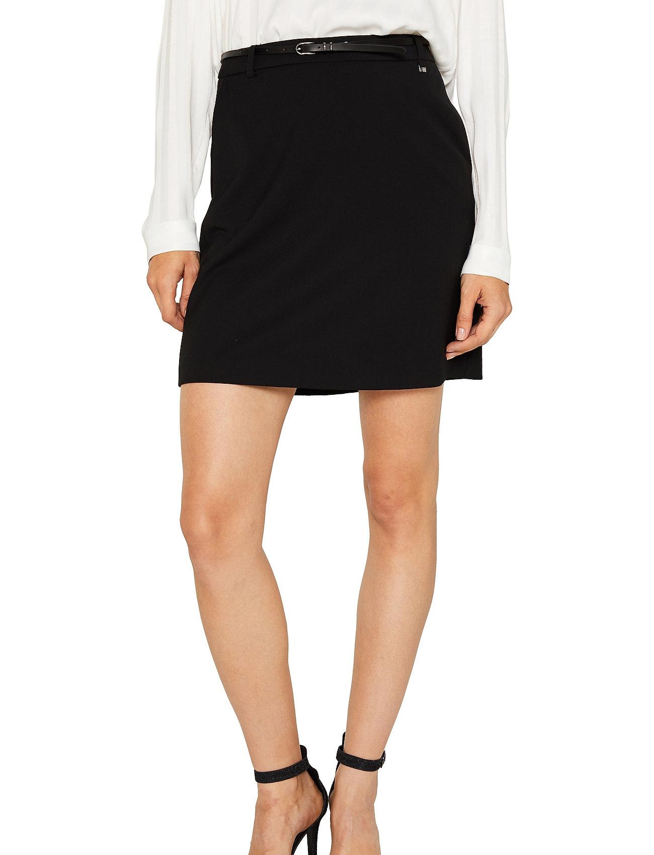 Esprit Collection - Skirts woven - midi skirts - black - 0