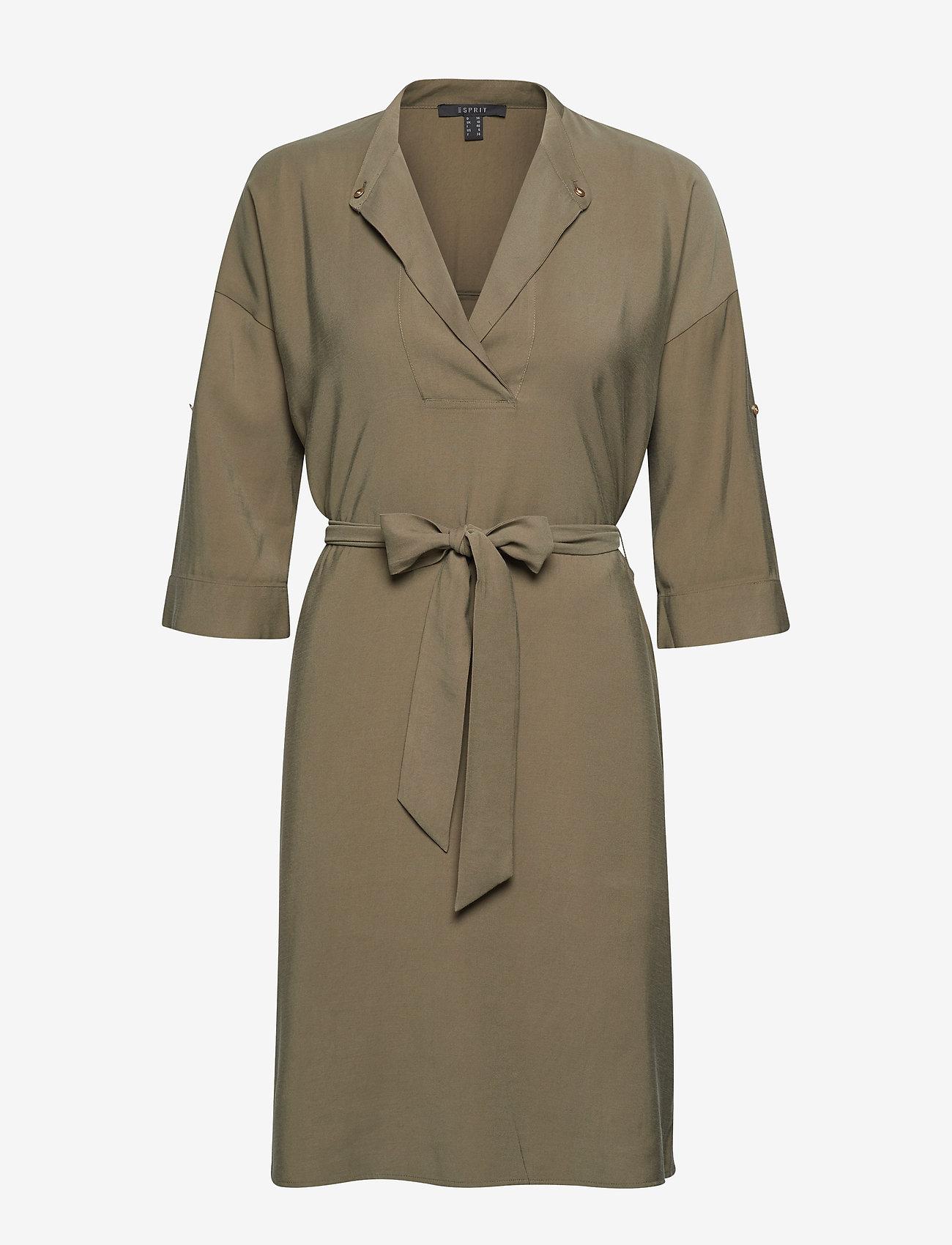 Esprit Collection - Dresses light woven - slå-om-kjoler - khaki green - 0