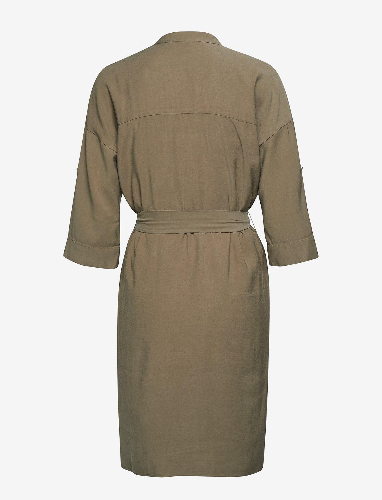 Esprit Collection - Dresses light woven - slå-om-kjoler - khaki green - 1