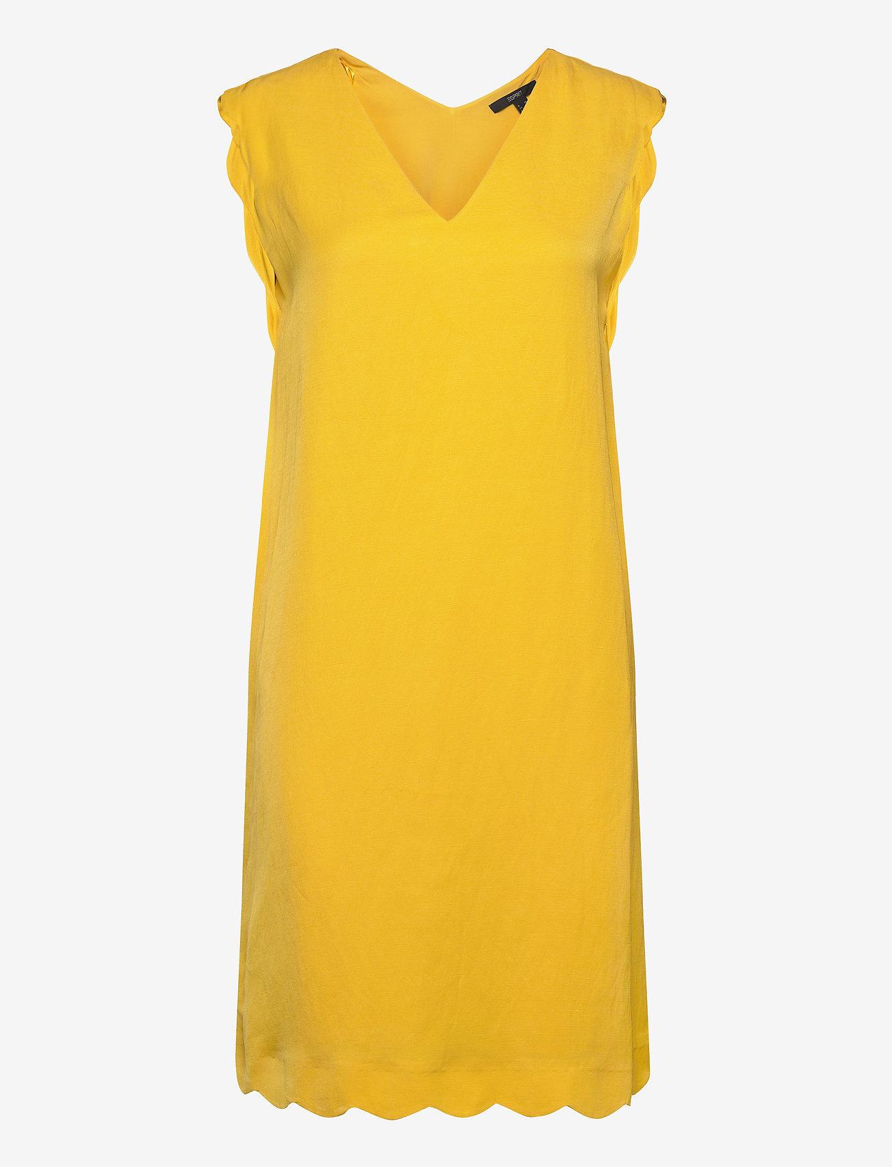 Esprit Collection - Dresses light woven - korte kjoler - yellow - 0