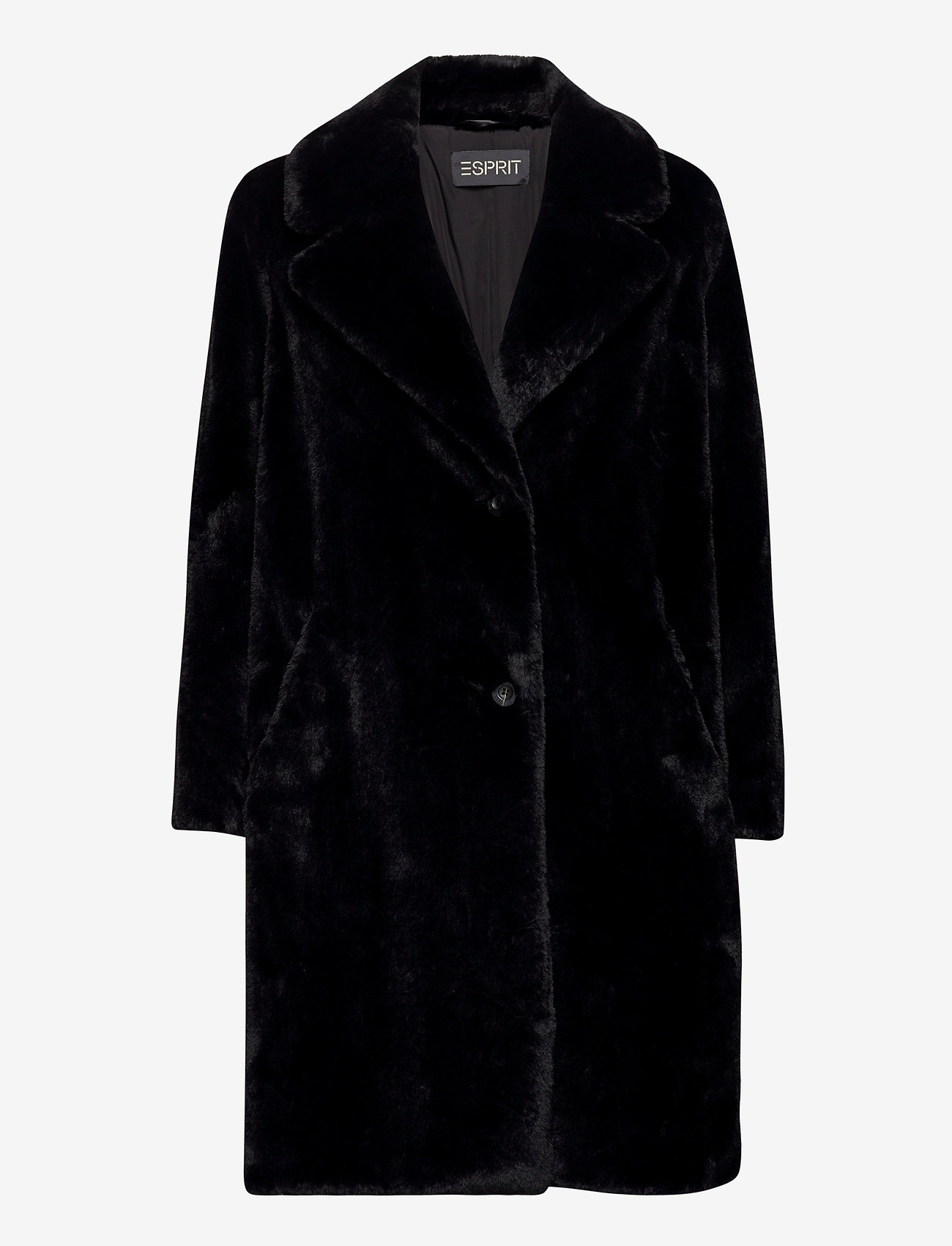 Esprit Collection - Coats woven - fausse fourrure - black - 0