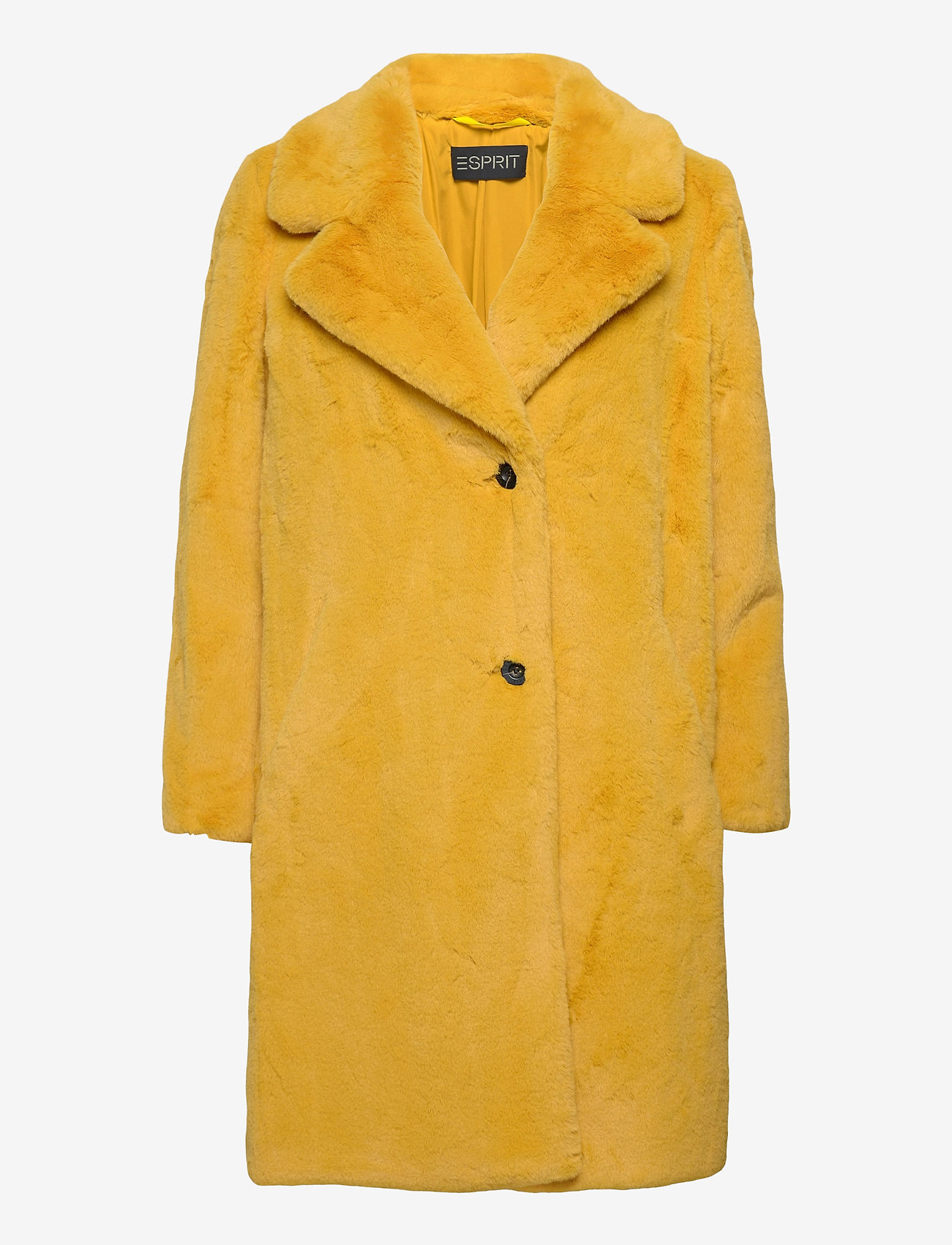 Esprit Collection - Coats woven - fausse fourrure - dusty yellow - 0