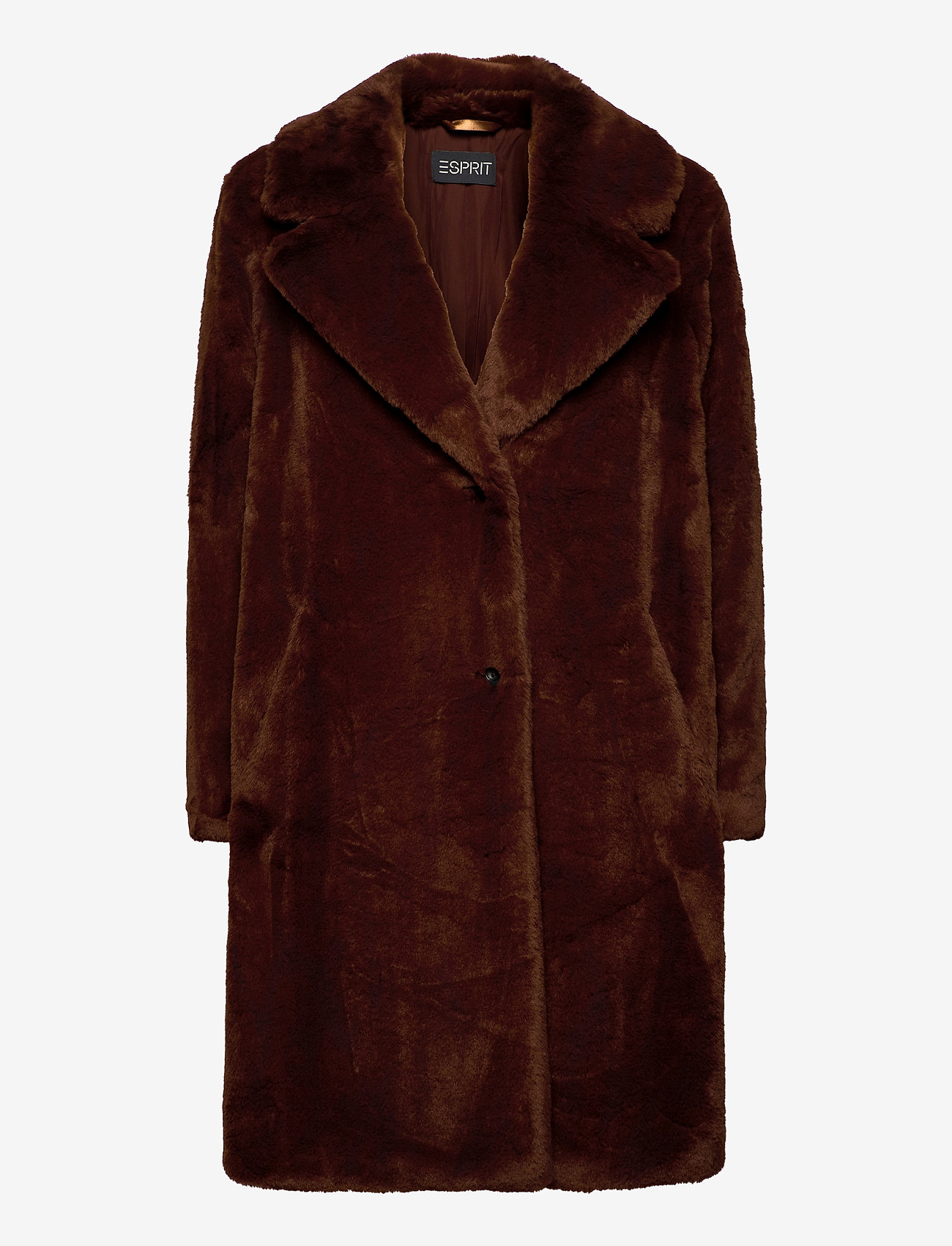 Esprit Collection - Coats woven - faux fur - rust brown - 0