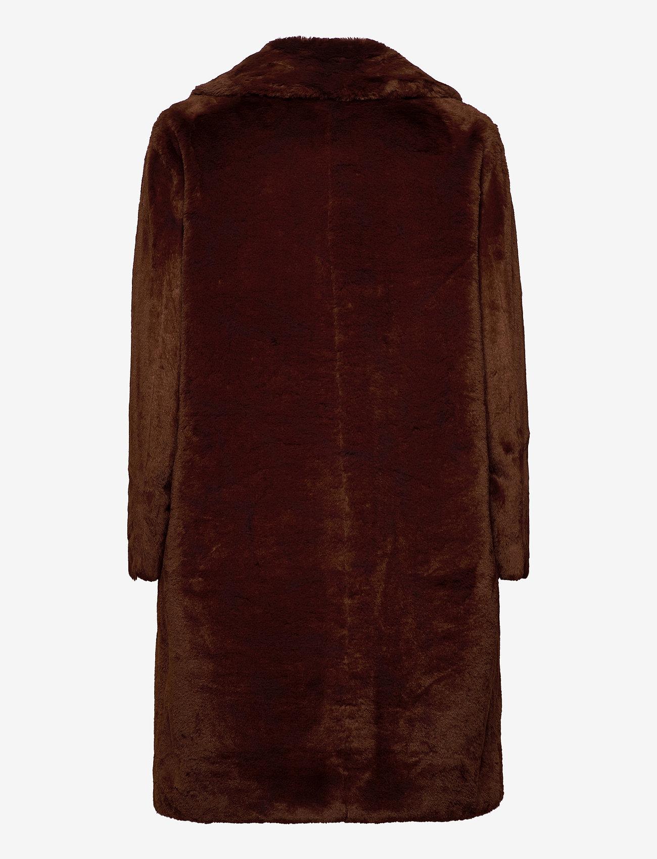 Esprit Collection - Coats woven - faux fur - rust brown - 1