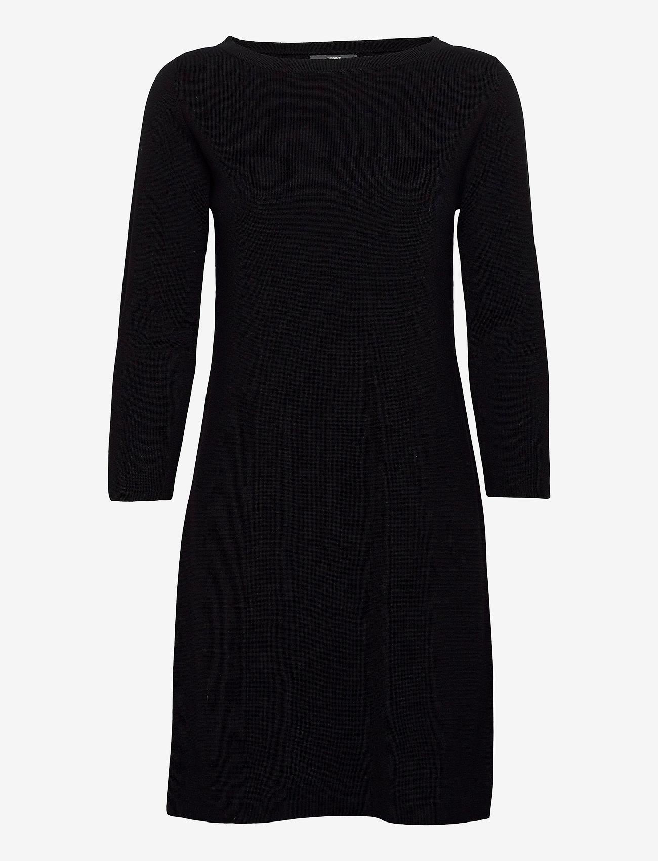 Esprit Collection - Dresses flat knitted - strikkjoler - black - 0