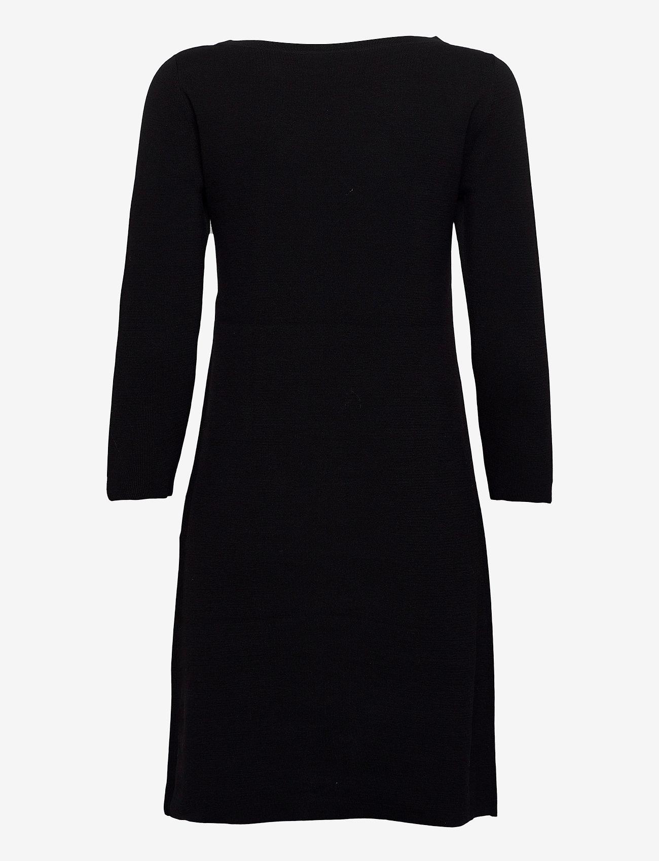 Esprit Collection - Dresses flat knitted - strikkjoler - black - 1