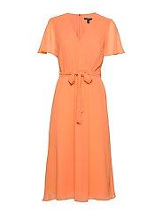 Dresses light woven - ORANGE