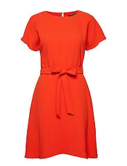 Dresses woven - RED ORANGE