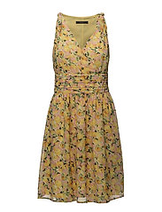 Dresses light woven - YELLOW