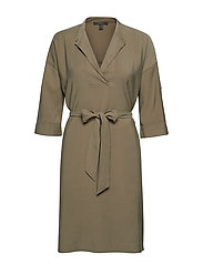 Dresses light woven - KHAKI GREEN
