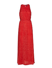 Dresses light woven - ORANGE RED