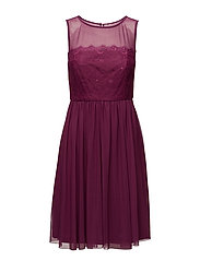 Dresses knitted - BERRY RED