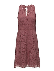 Dresses light woven - DARK OLD PINK