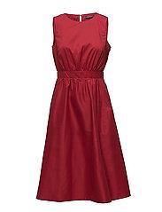 Dresses light woven - DARK RED