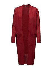 Sweaters cardigan - DARK RED