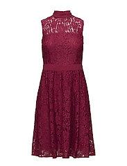 Dresses light woven - CHERRY RED