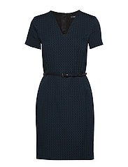 Dresses woven - PETROL BLUE