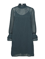Dresses light woven - BOTTLE GREEN