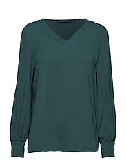 Blouses woven - BOTTLE GREEN