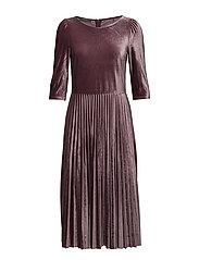 Dresses knitted - AUBERGINE
