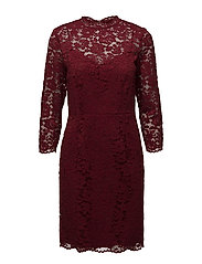 Dresses light woven - DARK RED