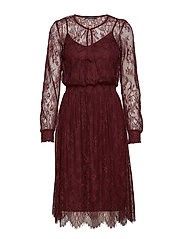 Dresses light woven - BORDEAUX RED