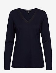 Esprit Collection - T-Shirts - long-sleeved tops - navy - 0