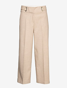 Pants woven - wide leg trousers - light taupe