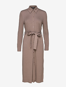 Dresses knitted - shirt dresses - taupe