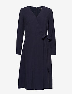 Dresses light woven - slå-om-kjoler - navy