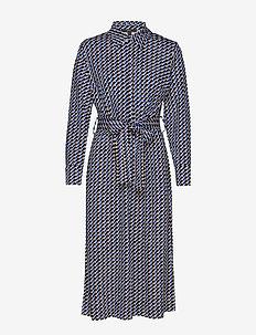 Dresses knitted - skjortekjoler - navy