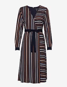 Dresses light woven - slå-om-kjoler - navy 2