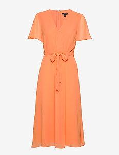 Dresses light woven - slå-om-kjoler - orange