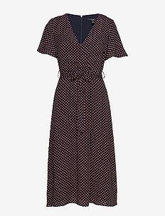 Dresses light woven - slå-om-kjoler - navy 4
