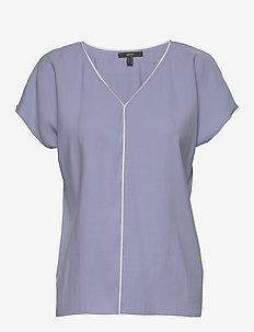 Blouses woven - short-sleeved blouses - blue lavender