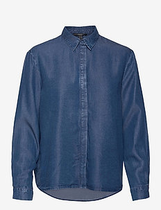 Blouses denim - denimskjorter - blue medium wash