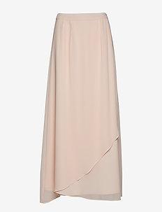 Skirts light woven - midinederdele - light pink