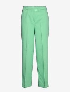 Pants woven - straight leg trousers - light green