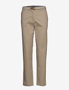 Pants woven - chinos - beige
