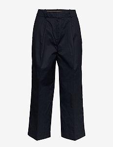 Pants woven - wide leg trousers - navy
