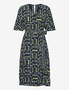 Dresses light woven - slå-om-kjoler - navy 3